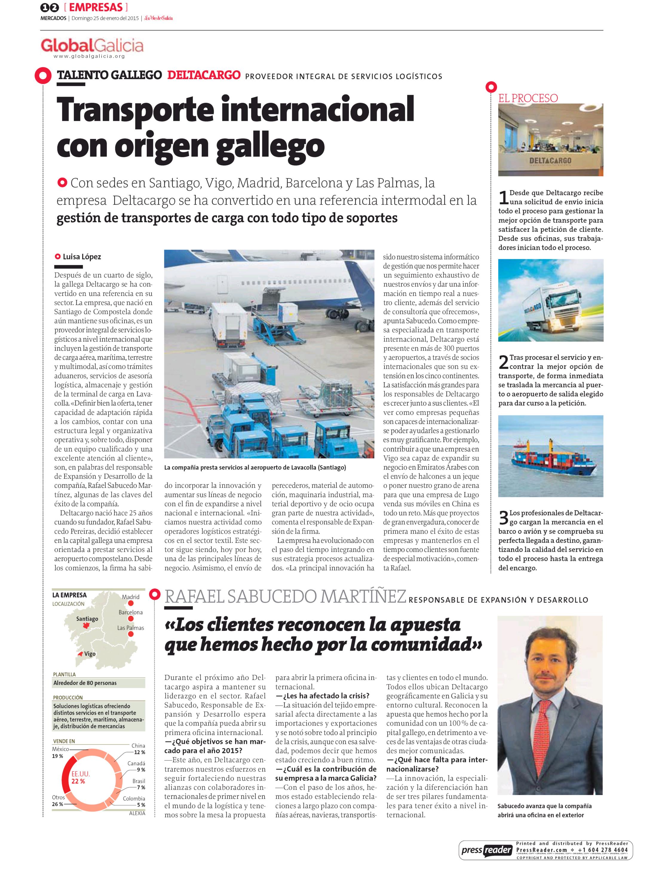 DELTACARGO Empresa de transporte internacional maritimo, aereo y terrestre