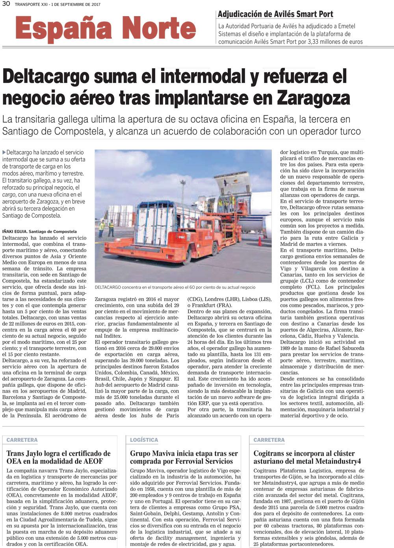 Deltacargo suma el intermodal y refuerza el transporte aereo en zaragoza